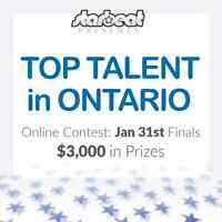 Online Contest TOP TALENT in Ontario $3000 in prizes Ends Jan 31
