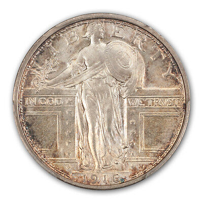 Click now to see the BUY IT NOW Price! 1916 25C STANDING LIBERTY QUARTER PCGS MS66FH
