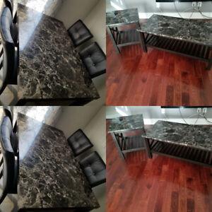 Imitation black marble