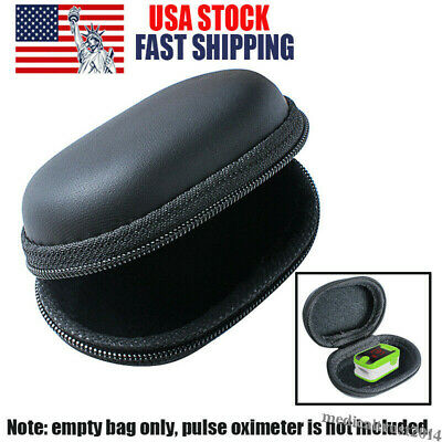 Finger Pulse Oximeter Monitor Pouch Protective Bag Carrying Storage Case Zipper