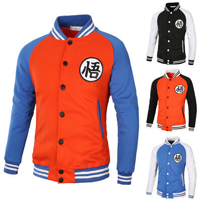 New Dragon Ball Z Goku Baseball Clothing Turtle Fairy Men Coat Cosplay Jacket