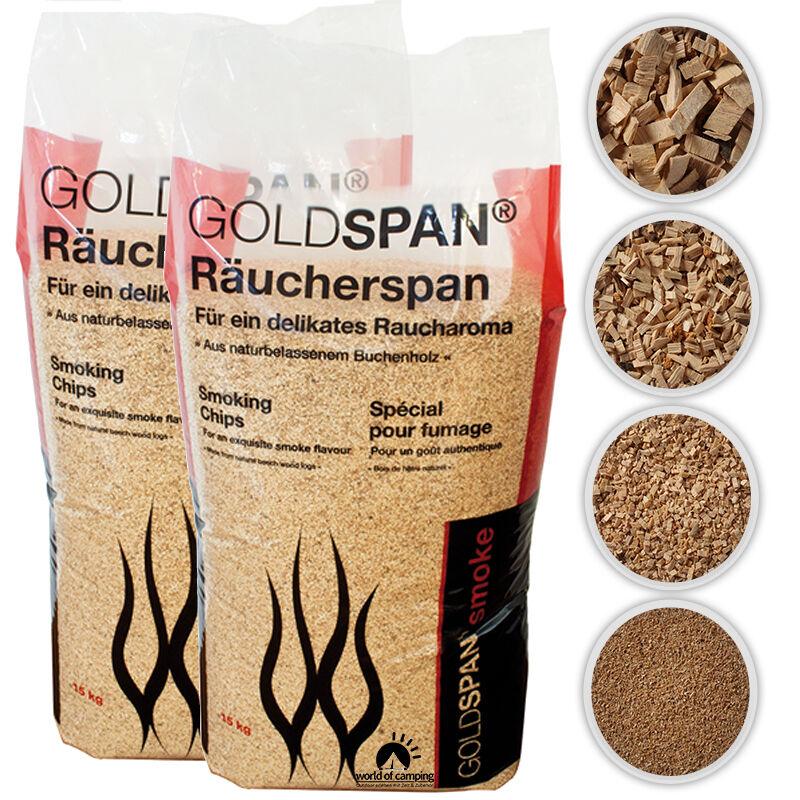 GOLDSPAN smoke Räucherspäne Räuchern Buche Räucherholz Chip Räuchermehl 0,80€/kg