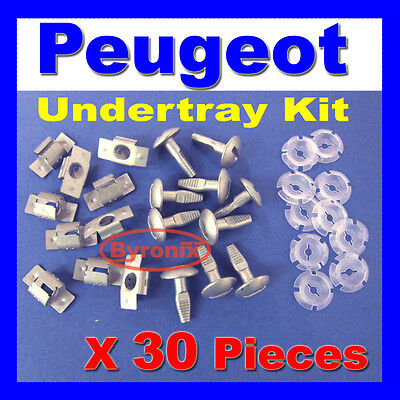 PEUGEOT ENGINE UNDERTRAY UNDER SHIELD RETAINING FIXING COVER CLIPS KIT