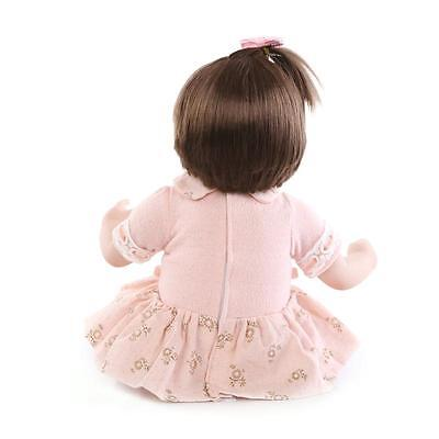 "Handmade Vinyl Lifelike Reborn Baby Doll Girl Soft Silicone 18""/45cm Eyes Open"