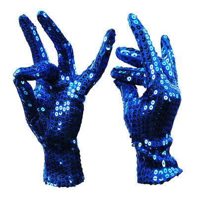 Sequin Gloves (Unisex Sequined Fashion Shiny Gloves Magic Cosplay Halloween Gift Flash)