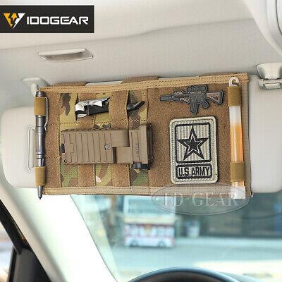 IDOGEAR Tactical Molle Vehicle Visor Panel Car Sun Visor Truck Organizer Pouch