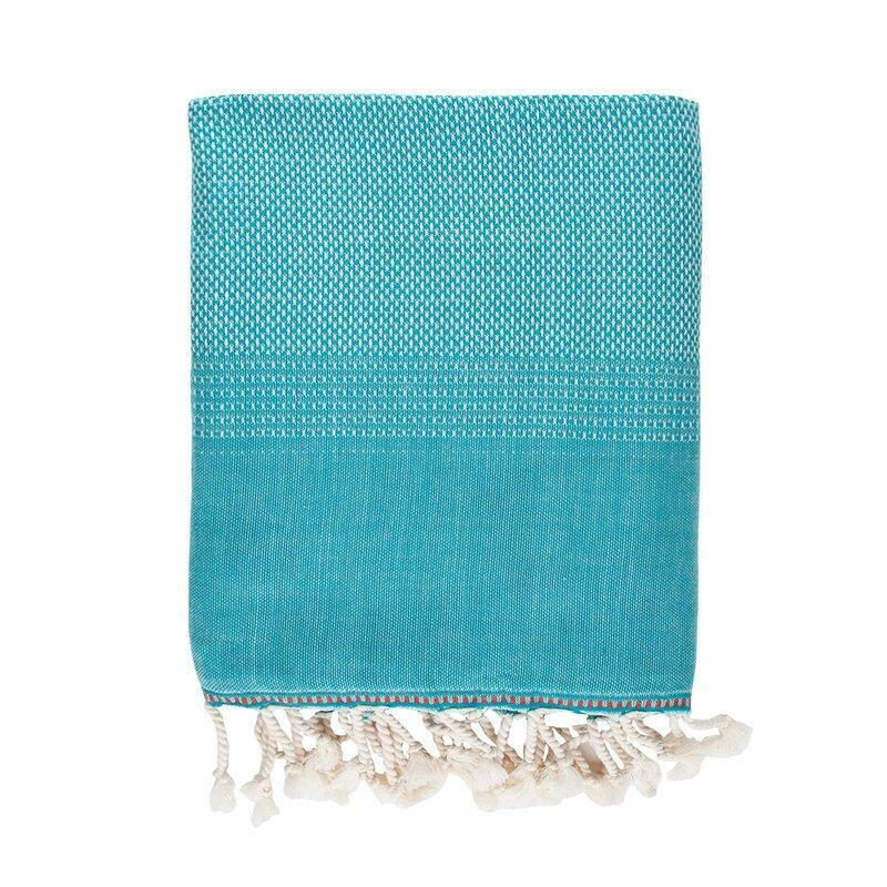 Brielle Home Fashion Tan 100% Cotton Turkish Peshtemal Towels Bath
