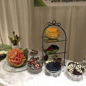 Fruit carvings ,dessert table displays Windsor Region Ontario image 1
