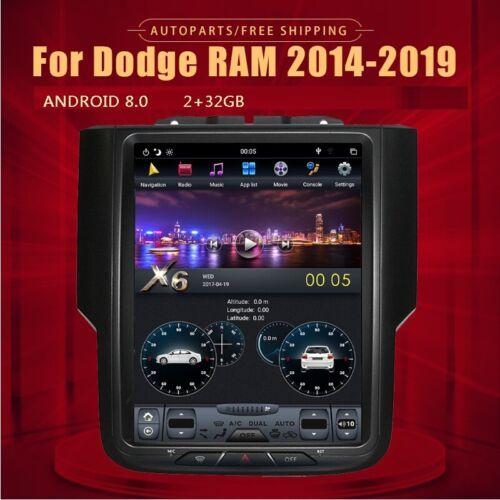 10.4 Tesla Style Car GPS Radio 2+32GB For Dodge Ram 1500 bighom 2500 Laramie