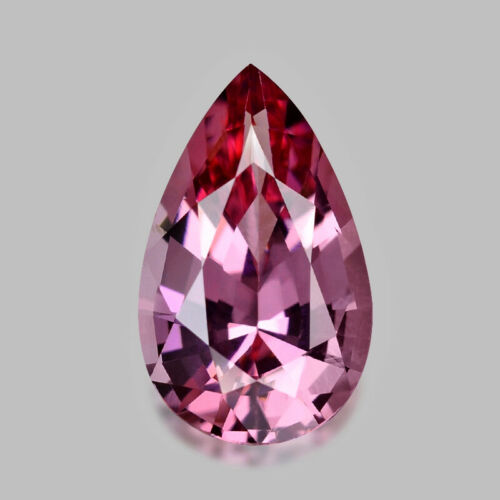 1.56cts GORGEOUS PEAR CUT NATURAL MYANMAR PURPLE PINK SPINEL VIDEO IN DESCRIPTIO