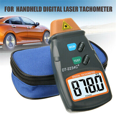 Digital Tachometer Non Contact Laser Photo Rpm Tach Meter Motor Speed Gauge