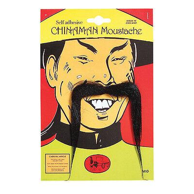 # Chinesisch Lang und Schwarz Schnurrbart Kostüm - Lange Schnurrbart Kostüm