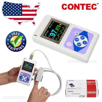 Contec Usa Fda Hand-held Pulse Oximeterusb Pc Analysis Software Cms60dspo2pr