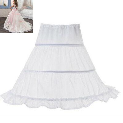 Flower Girl Kids 3 Hoops Underskirt Wedding Crinoline Petticoat Skirt Dress](Petticoat Skirt)
