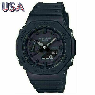 New Casio G-Shock GA-2100-1A1ER-Black (CasiOak) Carbon Core Guard Watch Fast US
