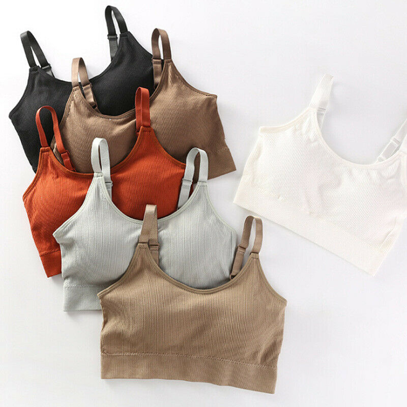 Womens Fitness Shoulder Straps Soft Bra Breathable Sexy Push