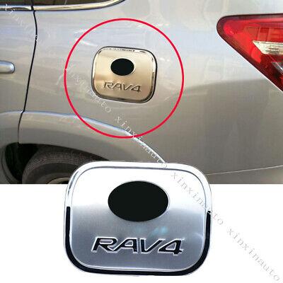 Steel Oil Fuel Cap Gas Tank Cover Garnish Molding Trim For Toyota RAV4 2009-2012