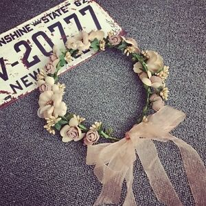 Beautiful Flower Bride Wedding Hair Wreath Floral Hairband Headband Crown Cute