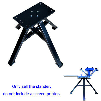 Screen Printing Stander All Metal Floor Holder For 4 Color 1 Station Press Print