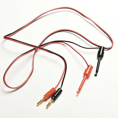 1pair Banana Plug To Test Hook Clip Probe Lead Cable For Multimeter P Je Ts