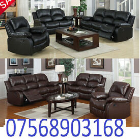 SOFA BOXING DAY lazy boy recliner sofa black real leather BRAND NEW 5
