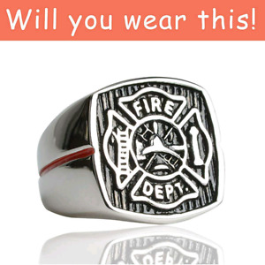 ..Great Christmas gift..For Sale Firefighter Rings.....