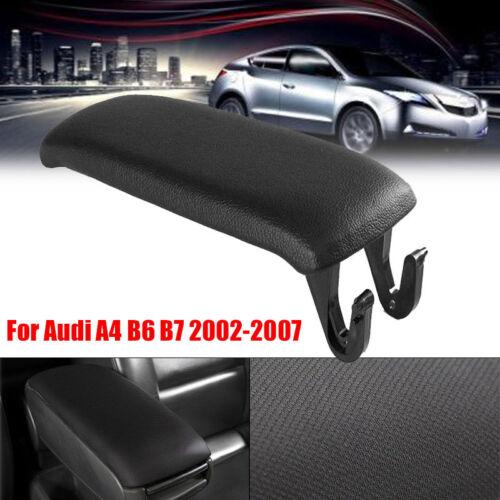For Audi A4 B6 B7 2002-2007 Car Center Console Armrest Cover Arm Lid Black