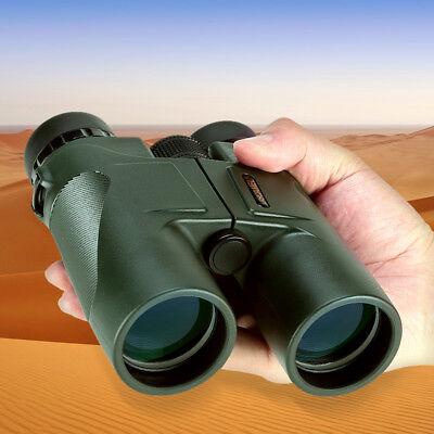 USCAMEL Military HD 10x42 Waterproof Binoculars  Hunting Telescope  ARMY GREEN