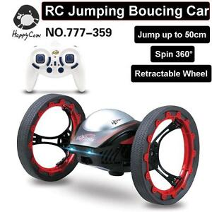 HappyCow 2.4G 4CH Bounce Car RC Car Jumping Sumo Robot Remote Control Car toys