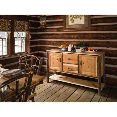 Rustic Hickory 2 Door and 2 Drawer Buffet / Server - Amish Made in the USA ()