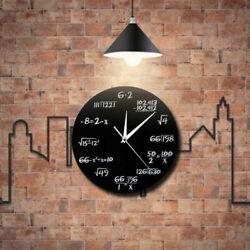 Creative Math Clock Mathematics Formula Wall Clock Silent Home Office Decoration