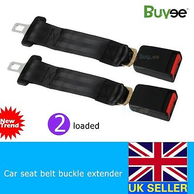 2PCS 35CM CAR AUTO SAFETY SEAT BELT SEATBELT EXTENSION EXTENDER BUCKLE GUARD KID