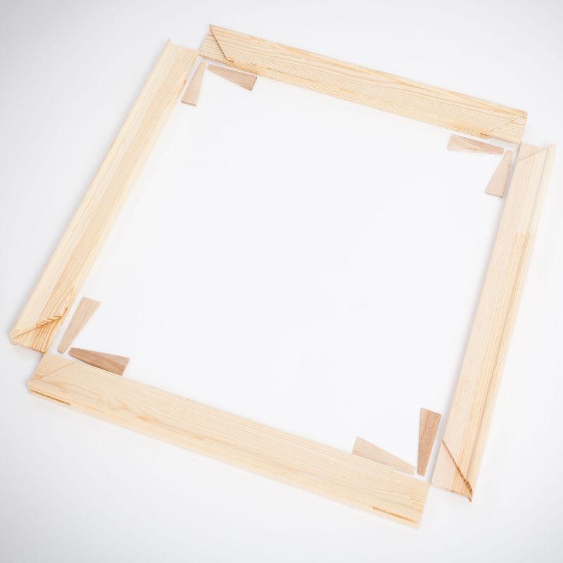Keilrahmen 4cm Bausatz Keilrahmenleisten Set selbst Zusammenbau Leinwandbilder