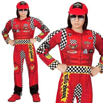 RENNFAHRER OVERALL Kinder Jungen Kostüm Formula 1 Fahrer -   116 128 140 158