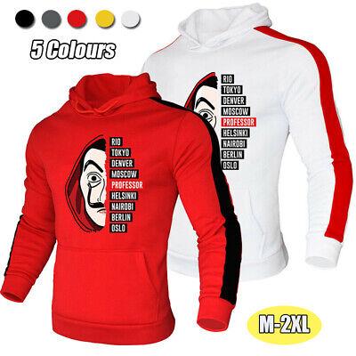 Money Heist Men's Classic Pullover Hoodies Hip Hop Sweatshirts Jumper Sportswear