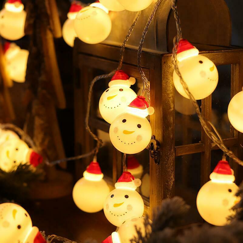 Christmas Decoration Lights Santa Head LED Set For Christmas Holidays Party