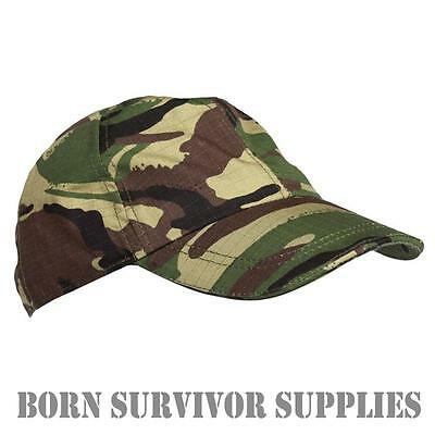 7c957e8e8d9 KIDS DPM CAMO BASEBALL CAP Childrens Hat Camping British Army Camouflage  Childs