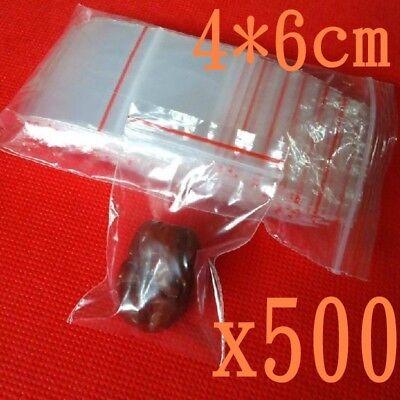 4x6cm Small Ziplock Clear Poly Bag Reclosable Plastic Jewelry Baggies