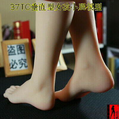 1 Pair Calf Foot Model Silicone Female Mannequin Leg Shoes Display Prop 11 Us 6