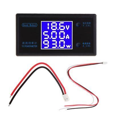 Dc 0-50v 5a 250w Voltmeter Ammeter Wattmeter Lcd Panel Voltage Amp Power Meter