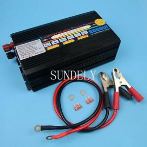 2000w (4000W peak) power inverter 2000 watt 12v UPS inverter battery charger