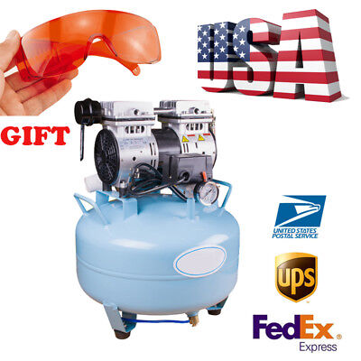 Super Dental Air Compressor 34hp Medical Silent Noiseless Oilless Motor Machine