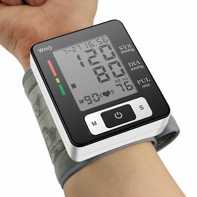 LCD Tensiómetro Medidor Monitor Presión Arterial Ritmo Cardíaco Muñeca Brazo