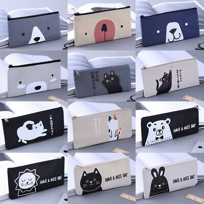 Cat Makeup For Kids (Cute Cat Bear Pencil Case Office School Stationery Makeup Zipper Bags Kids)