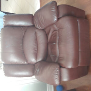 Brown Three Piece Reclining Sofa, Loveseat and Chair