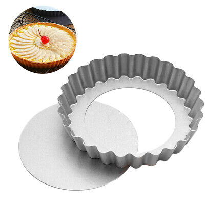 4-inch Pie Cake Egg Tart Removable Bottom Non-stick Pan Baking Pastry Mold Tool ()