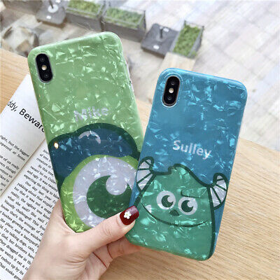 For iPhone X XS Max 6 7 8+ Cute shell Disney cartoon Mike Sulley soft phone case](Sulley X Mike)
