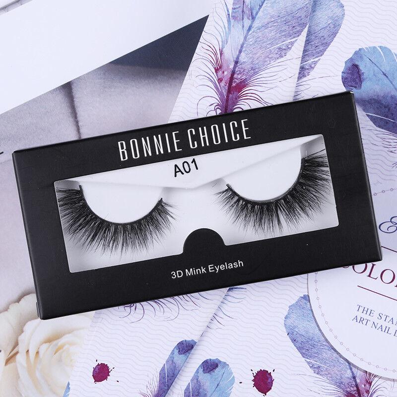 BONNIE CHOICE 3D False Eyelashes Natural Reusable Long Fake