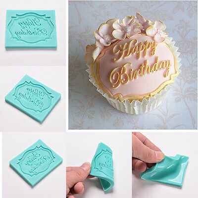 Happy Birthday Silicone Cake Fondant Mould Decorating Chocolate Baking Mold YNW