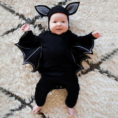 Halloween Costumes 24 Months (Kids Baby Halloween Party Costume Bat Long Sleeve Jumpsuit Hat Baby 3-24)
